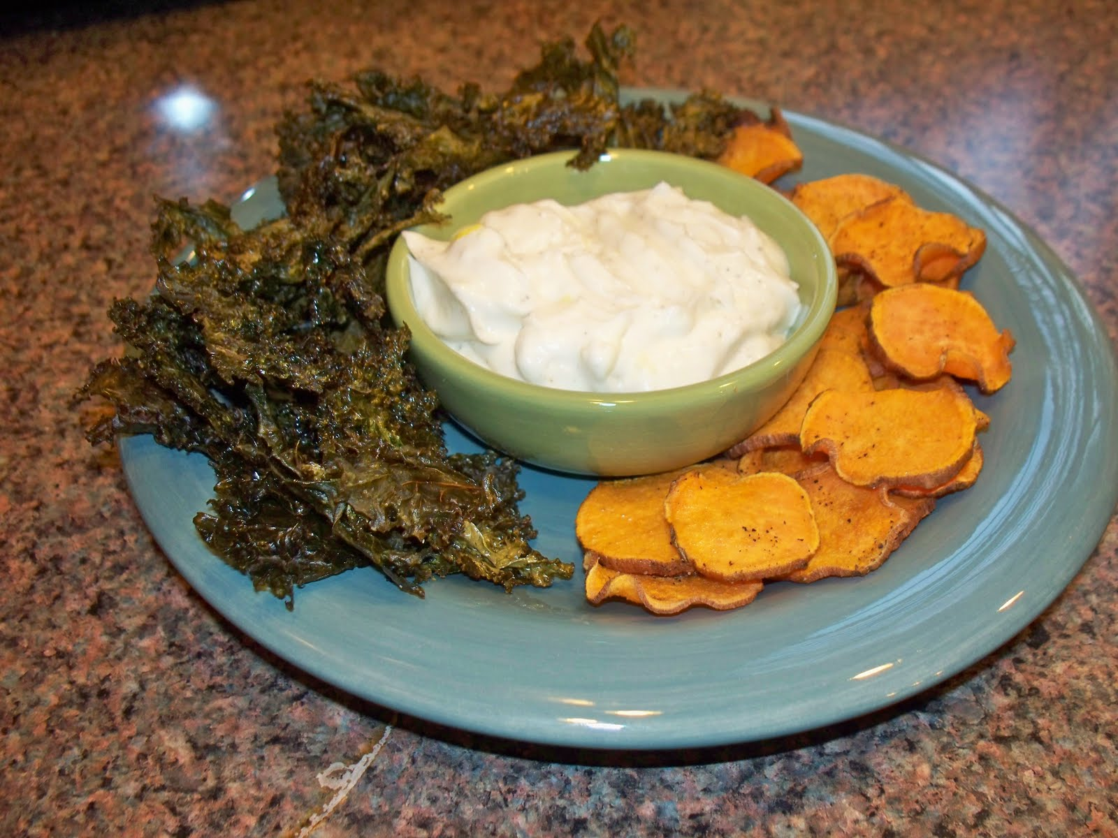 Hot Blue Cheese Dip With Sweet Potato Chips Recipe — Dishmaps