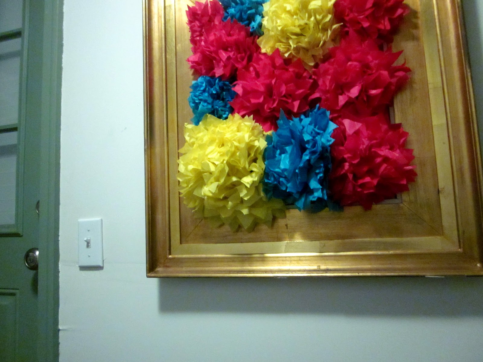 Diy Wall Art Tissue Paper : The tiny hummingbird framed tissue paper poms diy wall