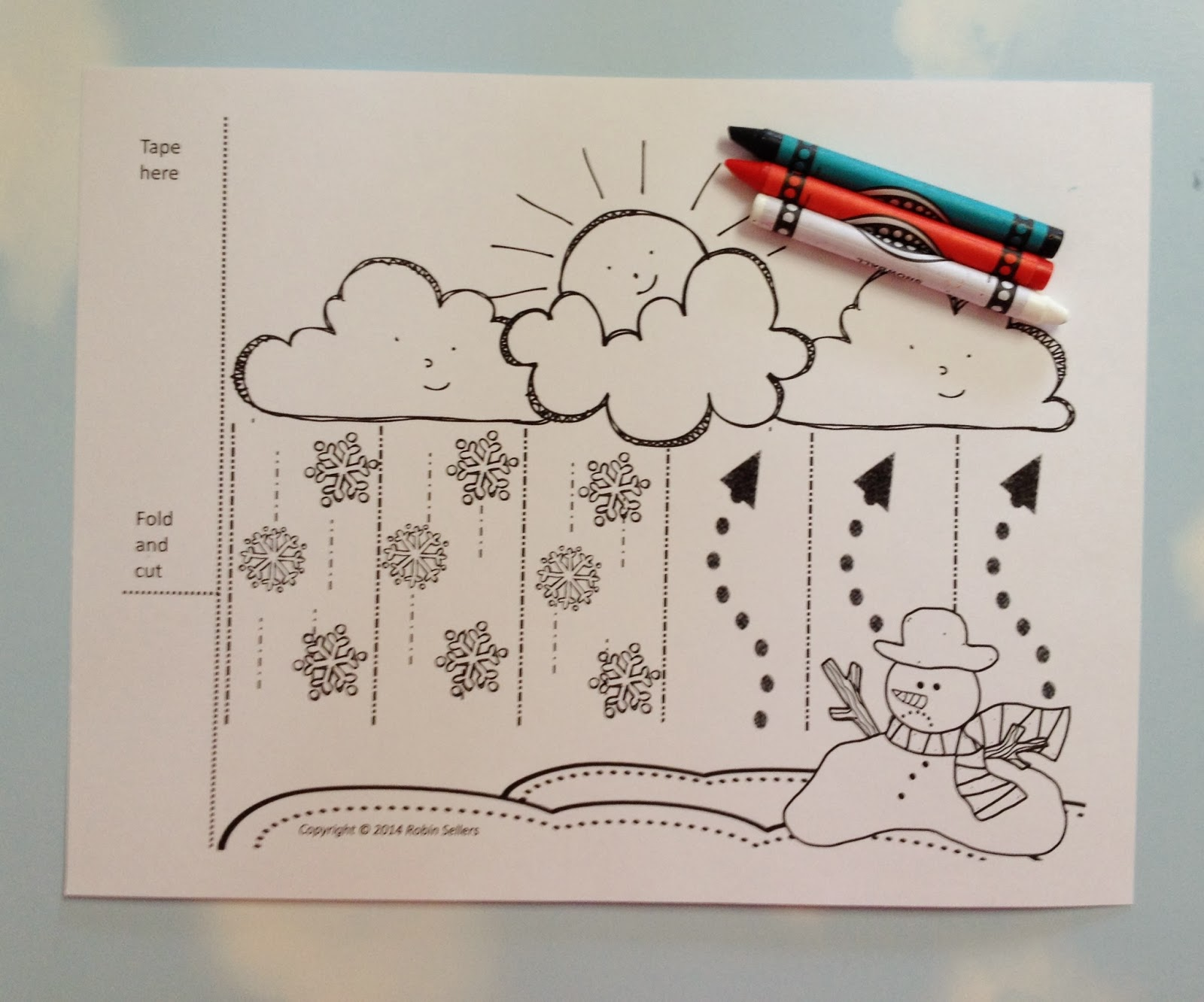 snow water cycle printable