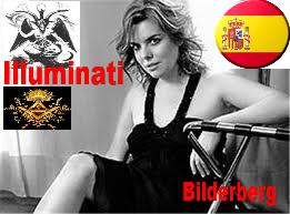 España Vice-presidente ministra da Presidencia; Illuminati, Bilderberg, Baphomet, Nua, gajas nuas, espanholas nuas
