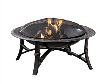Lowe S Garden Treasures 35 In Black Steel Wood Burning