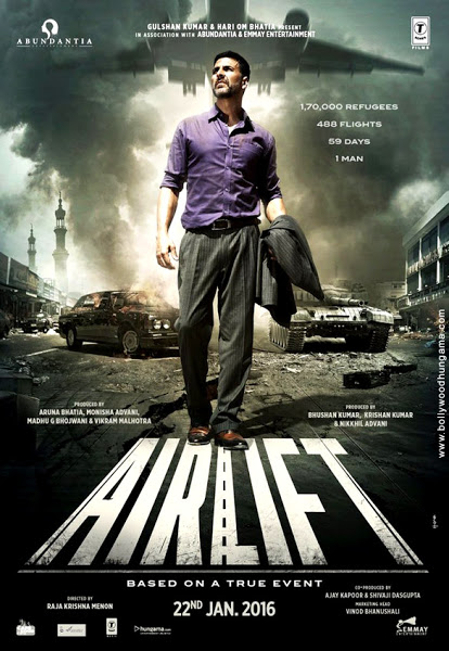 Poster Of Airlift 2016 480p 1CDRip Hindi DVDScr Full Movie