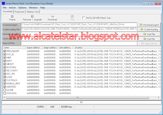 sp flash tool download alcatel star idol
