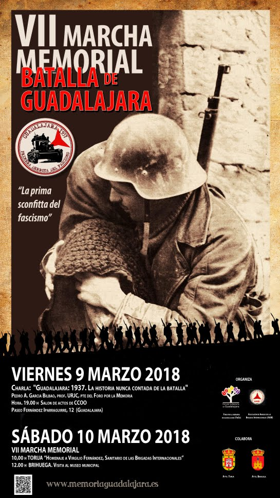 9 y 10 de marzo Memorial batalla de Guadalajara