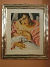 Maternita'  omaggio a ...T. de Lempicka