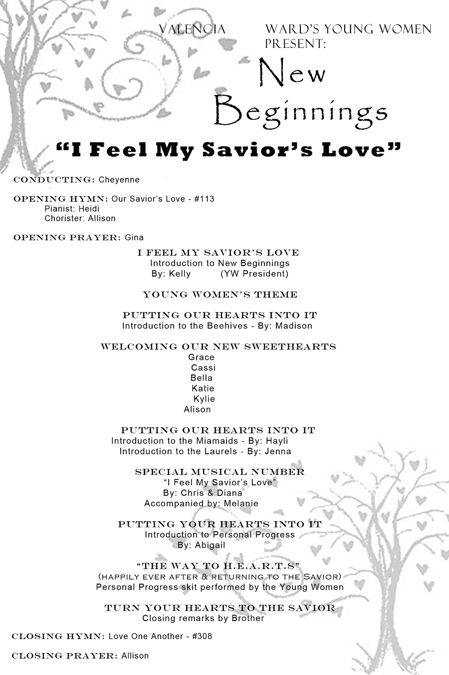 church invitation for valentine banquet | just b.CAUSE