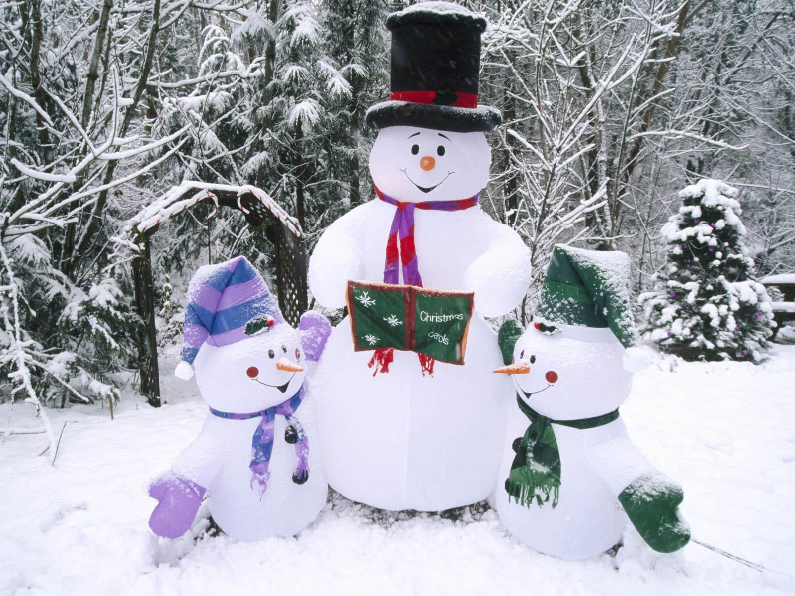 No l p re no l bonhommes de neige - Bonhomme de neige decoration exterieure ...