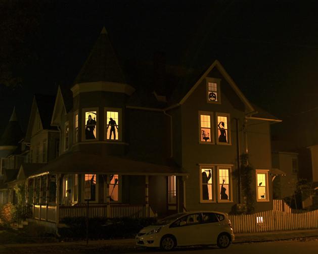 Siluetas de terror para ventana (decoracion Halloween)