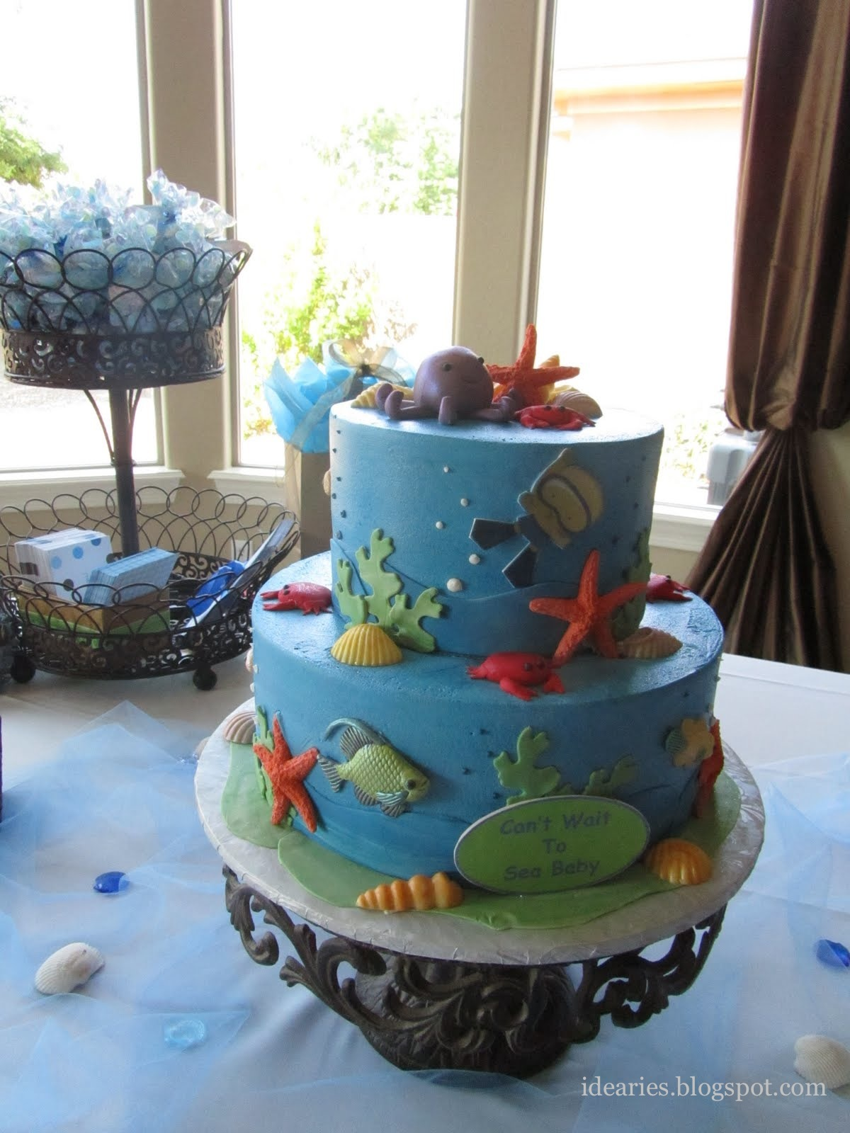 idearies under the sea baby shower