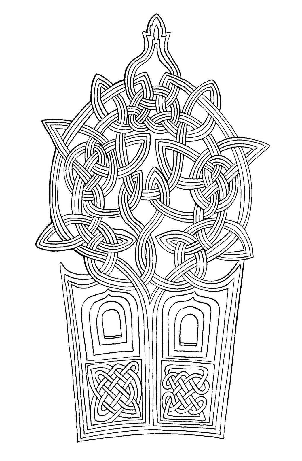 Bonito Para Colorear Mandala Celta Cresta - Ideas Para Colorear ...
