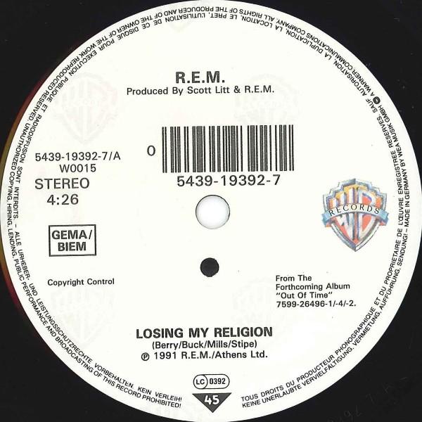 Vinyl Video R E M Losing My Religion 1991