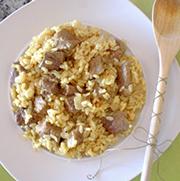 Ternera con arroz al curry