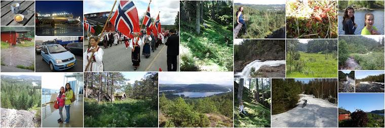 Ben, Marjolein, Femke en Maaike in Noorwegen