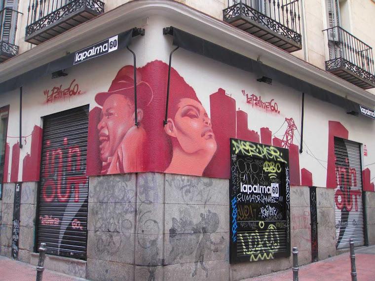 Graffitis en la zona de San Bernardo