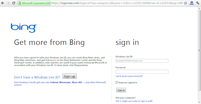 Sing in ke Bing Webmaster Tools