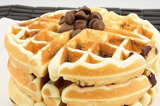 Waffle com calda