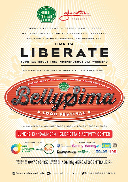 Mercato Centrale & Glorietta Presents: Bellysima! Food Festival 2015 on June 12 and 13 at the Glorietta 5 Atrium, Makati City