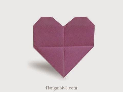 Cách gấp, xếp trái tim biết đập bằng giấy origami - Video hướng dẫn xếp hình - How to make a Heart in bloom