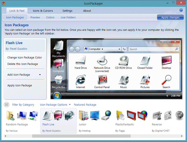 How to change icons in Windows 8