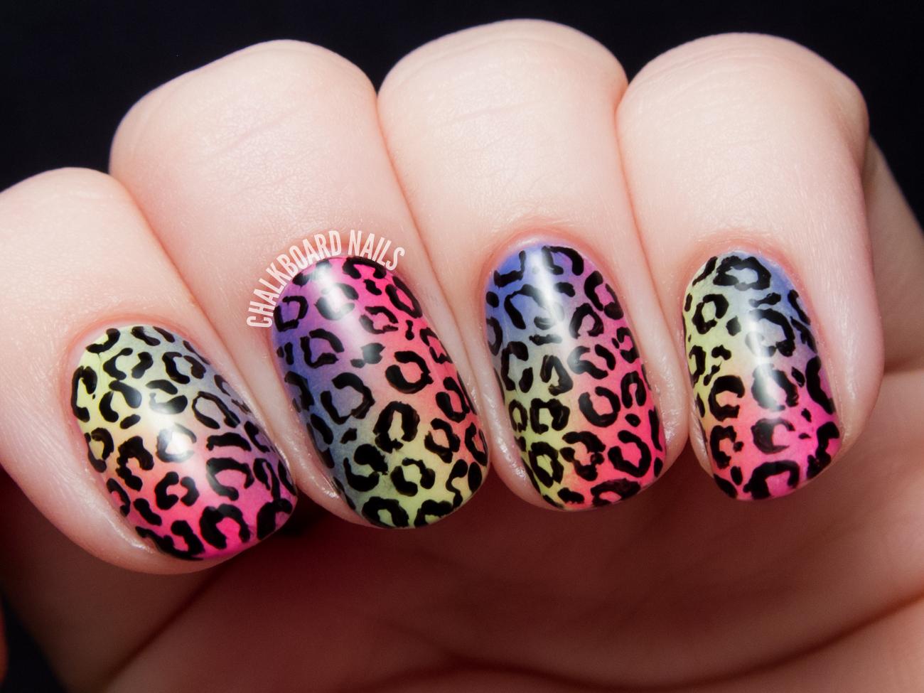 Tropical Rainbow Leopard Print - China Glaze City Flourish Nail Art ...