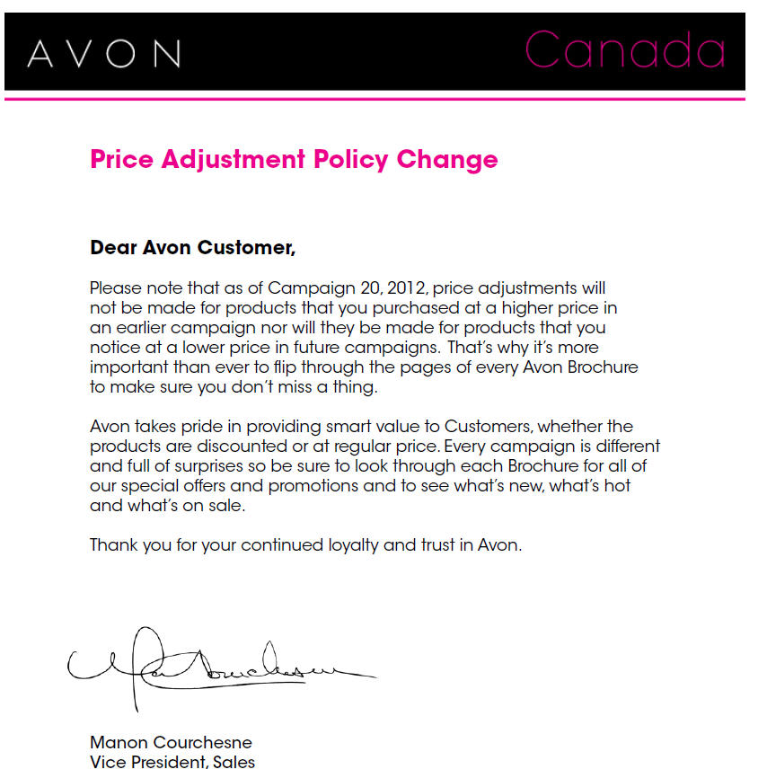 blog post price adjustment policies
