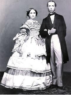 Carlota de Bélgica junto a su esposo Maximiliano I Emperador de México