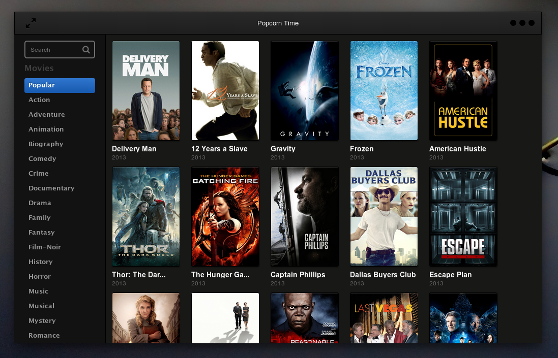 POPCORN TIME: Watch movies online