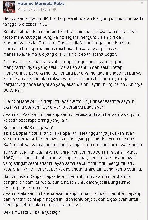 Pandangan Hutomo Mandala Putra Mengenai PKI di INDONESIA
