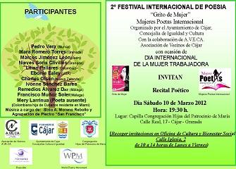 SEGUNDO FESTIVAL DE POESÍA . GRITOS DE MUJER
