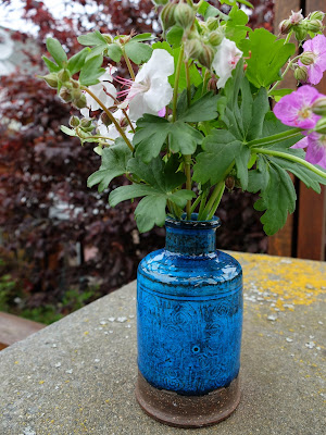 Kahler Vase and Geranium