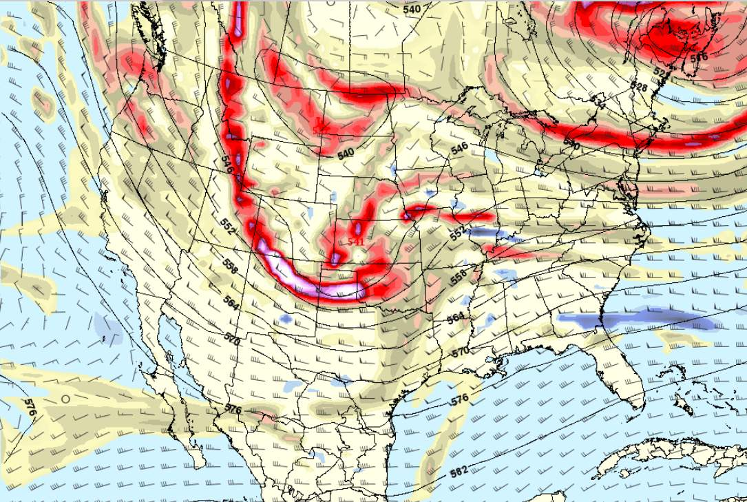 with an approaching cold front and pre frontal trough we will see an increase in the low level jet over the area saturday afternoon and night bringing much