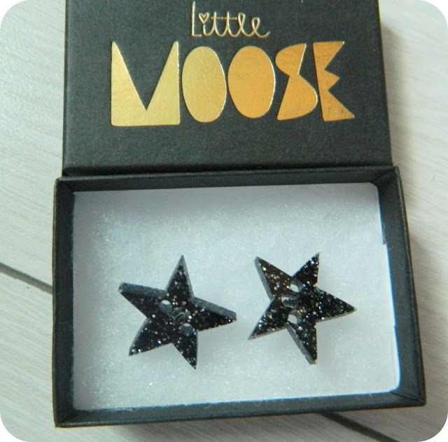 little moose sparkle star earings