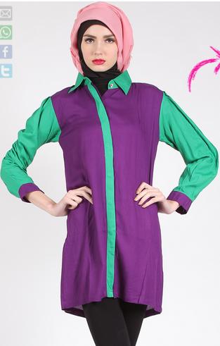 Contoh Desain Baju Muslim Modern Terbaru