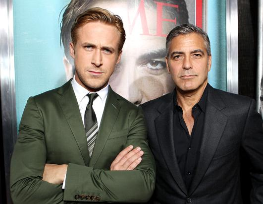 Hairstyle Actor Celebrity Hollywood, Ryan Gosling and Geogre Cloone