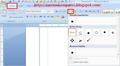 Cara Membuat Bullet and Numbering di Microsoft Word 2007, Bullets, Numbering, Microsoft Word 2007, Tips Word 2007 2