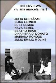 BEATRIZ IRIART in INTERVIEWS: JULIO CORTÁZAR, ELISA LERNER, SUSY DEMBO, NAVA SEMEL