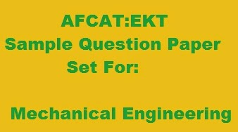 EKT sample Question Paper set for Mechanical