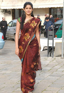 Deeksha Seth spotted wearing Brown Saree Spicy Pictures