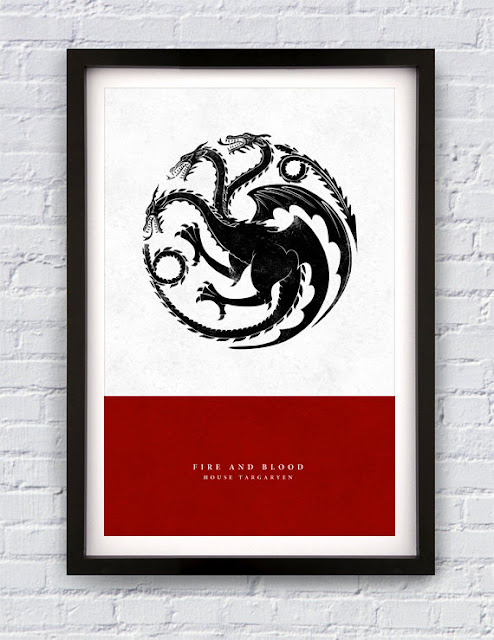 House Targaryen Print by Pixology