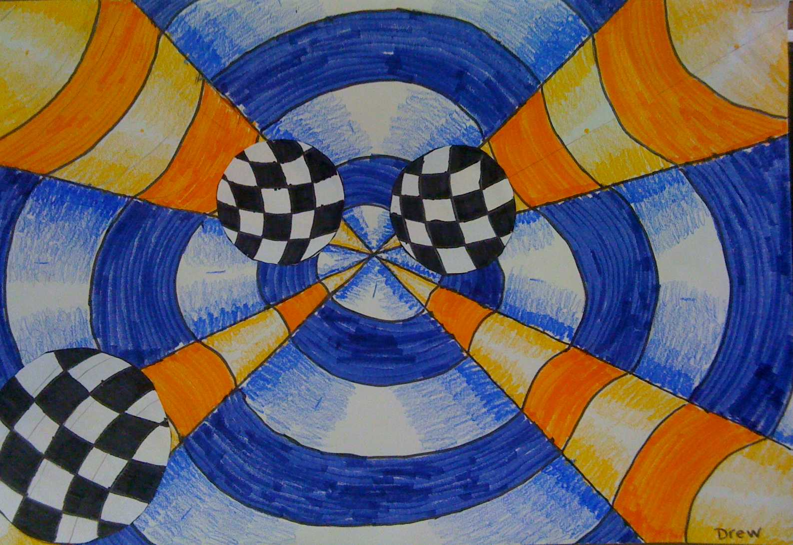 Art Using Lines And Shapes : Nichols art th grade optical illusions using