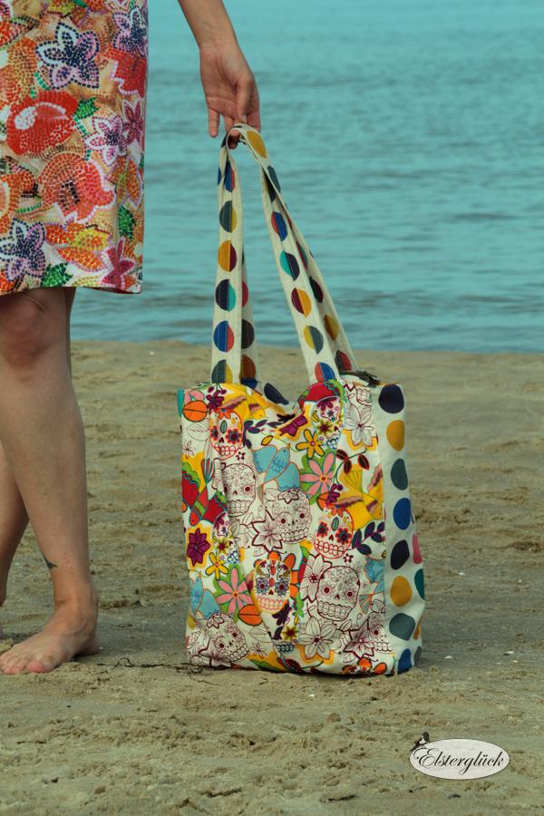 elstergl ck shopper tasche mit rei verschluss tutorial zipper bag. Black Bedroom Furniture Sets. Home Design Ideas