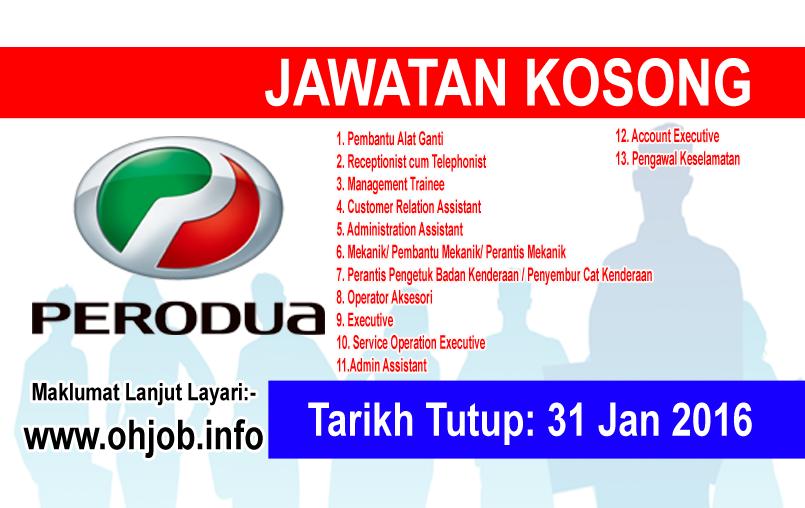 Jawatan Kerja Kosong PERODUA logo www.ohjob.info januari 2016