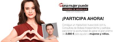 Cartel concurso maquillaje Una mujer puede Mary Kay