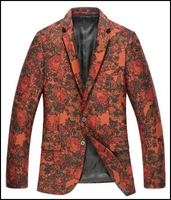 dark red floral velvet exclusive blazer for men