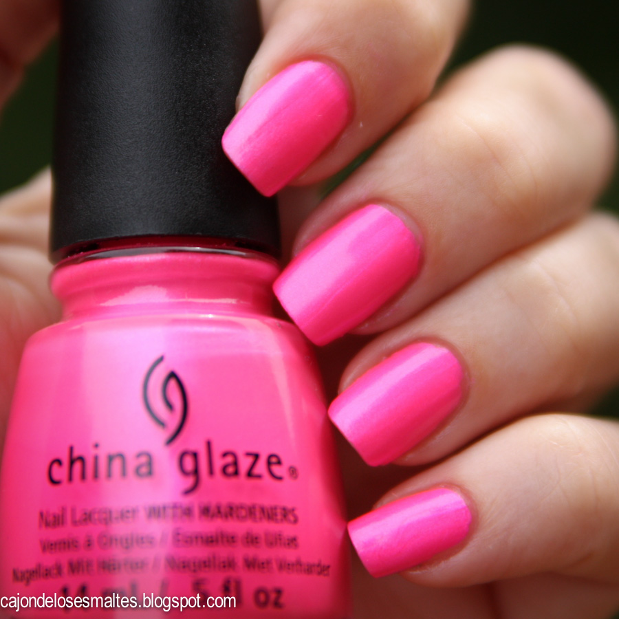 Neon China Glaze - Hang Ten Toes Swatch