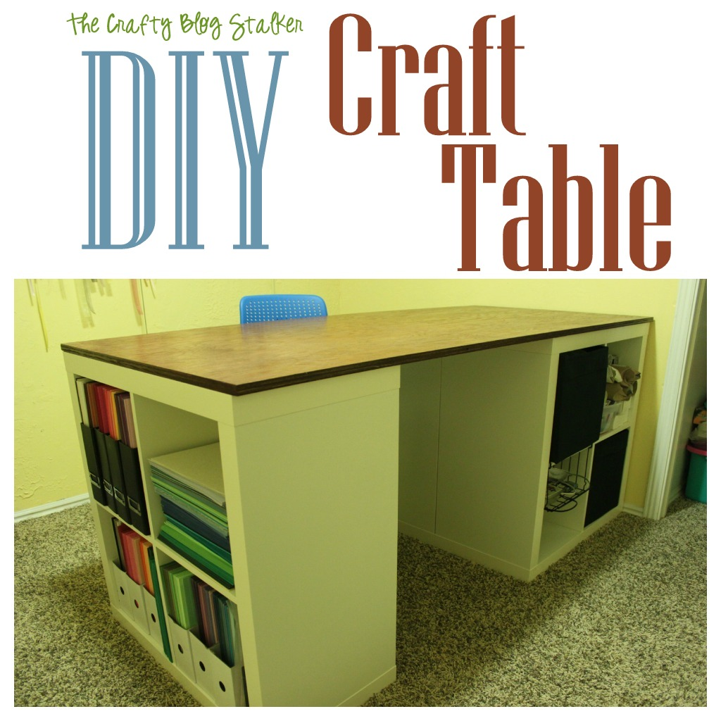 tutorial make your own custom craft table the crafty. Black Bedroom Furniture Sets. Home Design Ideas