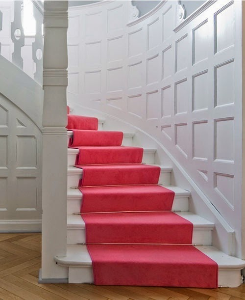 carpeting stairs : Ideas for installing carpet on stairs