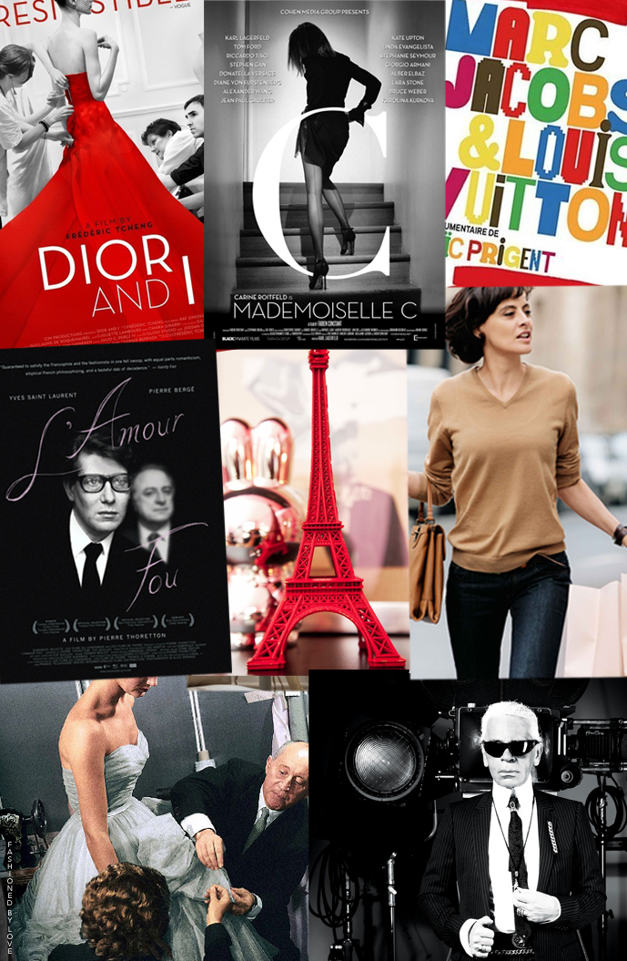 More fashion movies for your viewing pleasure! I have Dior and Saint Laurent, Carine and Ines, Marc and, well, Louis... Take your pick and enjoy. Reviews, preview and watch online Christian Dior: The Man Behind the Myth, Dior and I, Yves Saint Laurent L'Amour Fou, Yves Saint Laurent documentary, Masters of Beauty: Karl Lagerfeld, Lagerfeld Confidential, Marc Jacobs and Louis Vuitton, Carine Roitfeld, Mademoiselle C, Ines de la Fressange via www.fashionedbylove.co.uk british fashion blog
