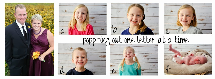 """popp""ing out one letter at a time"