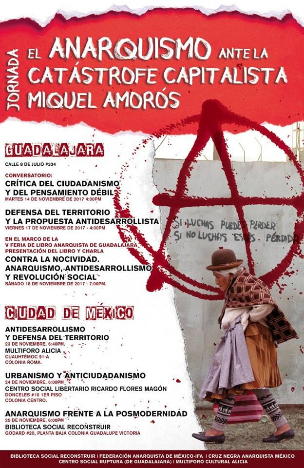 """Jornada """"El anarquismo ante la catastrofe capitalista"""". Con Miquel Amorós de España"""